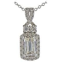Ashoka 1.10 Carat Diamond Gold Pendant Necklace