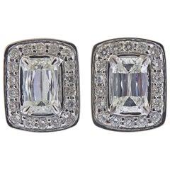 Ashoka 1.21 Carat Diamond Gold Stud Earrings