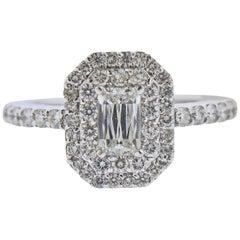 Ashoka 1.48 Carat Diamond Gold Double Halo Engagement Ring