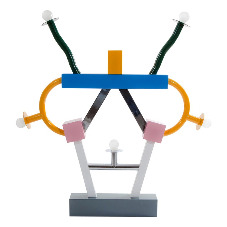 Ashoka Metal Table Lamp 'EU' 220 Volts, by Ettore Sottsass for Memphis Milano For Sale