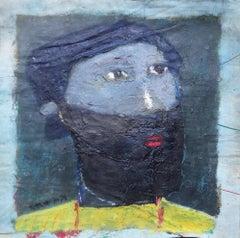 """Untitled 011"" Oil Painting 14"" x 13"" inch by Ashraf Zamzami"