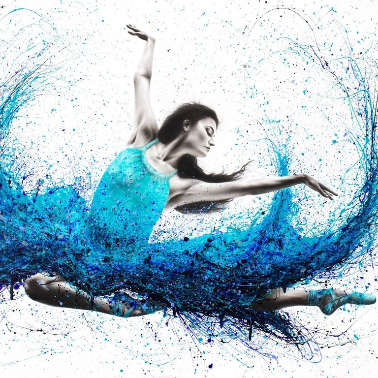 Luna Marina Ballet - Photorealist Painting by Ashvin Harrison