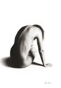 Nude Woman Charcoal Study 56