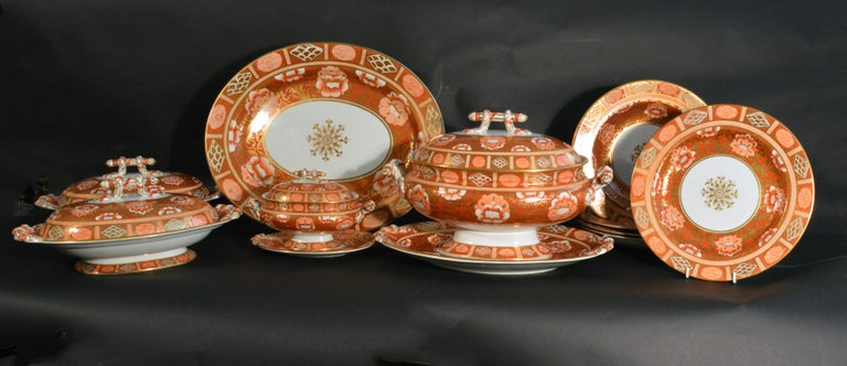 Arts and Crafts Ashworth Brothers Ironstone Dinner Service, circa 1893, Forty-Five Pieces, For Sale