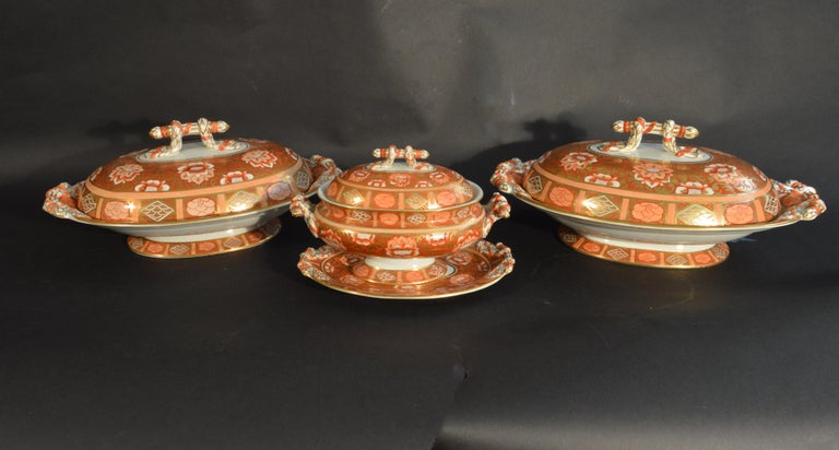 English Ashworth Brothers Ironstone Dinner Service, circa 1893, Forty-Five Pieces, For Sale