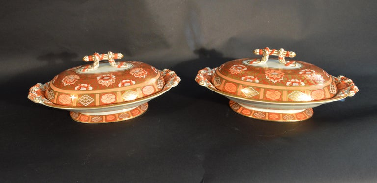 Ashworth Brothers Ironstone Dinner Service, circa 1893, Forty-Five Pieces, In Good Condition For Sale In Maryknoll, NY