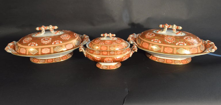 19th Century Ashworth Brothers Ironstone Dinner Service, circa 1893, Forty-Five Pieces, For Sale