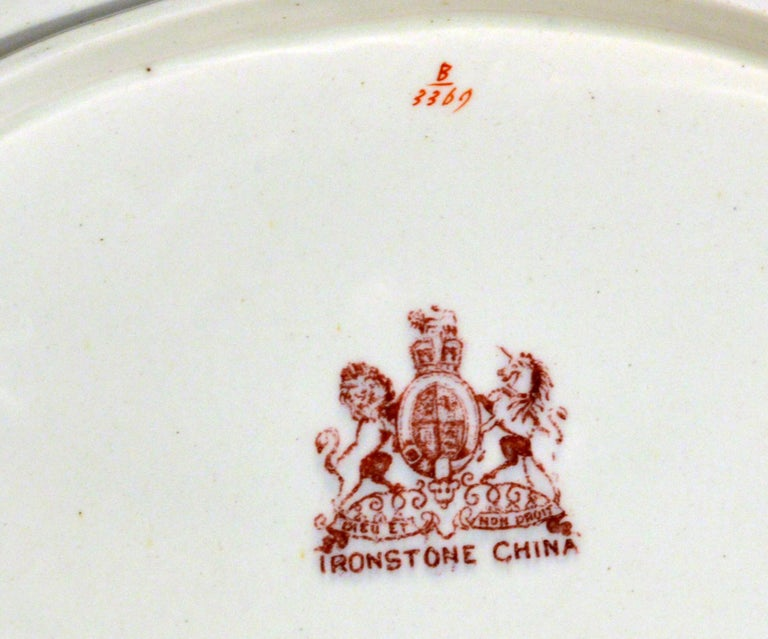 Ashworth Brothers Ironstone Dinner Service, circa 1893, Forty-Five Pieces, For Sale 1