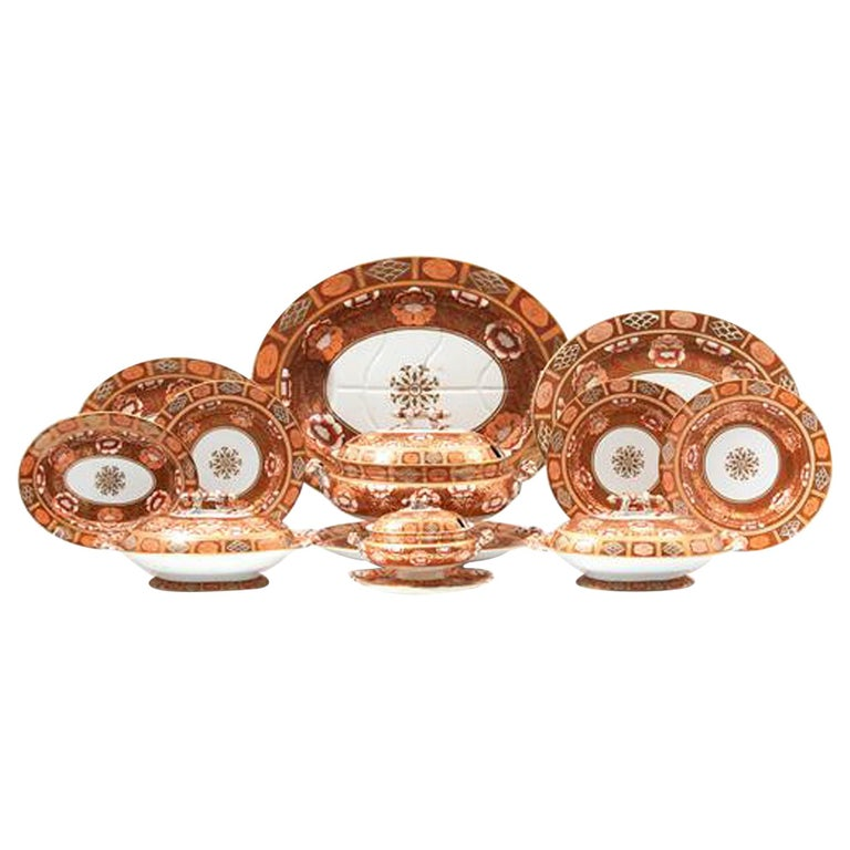 Ashworth Brothers Ironstone Dinner Service, circa 1893, Forty-Five Pieces, For Sale