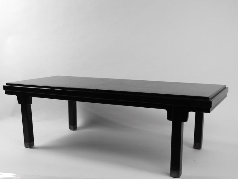 Asia Modern Coffee Table Attributed to Baker For Sale 5