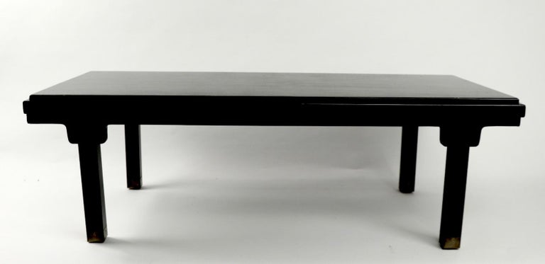 Hollywood Regency Asia Modern Coffee Table Attributed to Baker For Sale