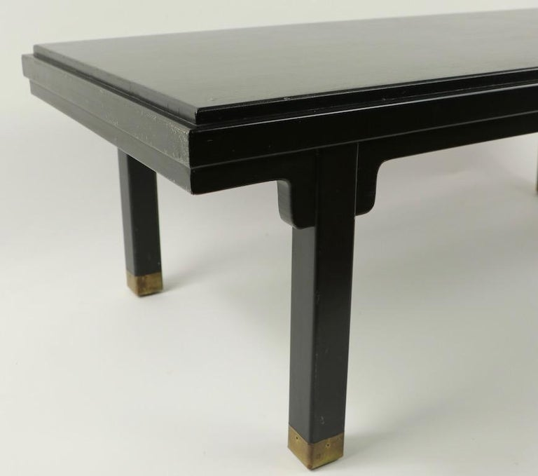 Lacquered Asia Modern Coffee Table Attributed to Baker For Sale