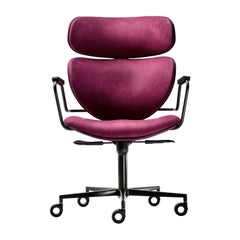Asia Purple Swivel Chair