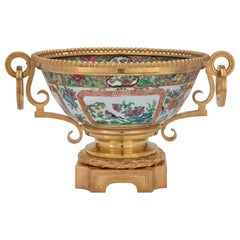 Asian 19th Century Famille Rose Bowl with French 19th Century Ormolu Mounts