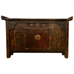 Chinese Alter Table, Sideboard / Console Carved Wood, Early 20th Century