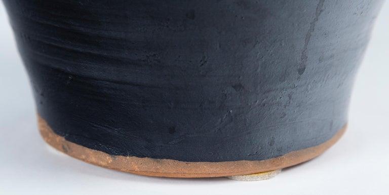 Asian Black Glaze Ceramic Storage Jar, 20th Century 2