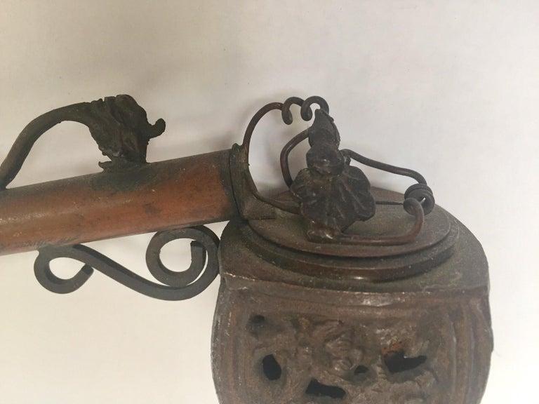 Asian Metal Japanese Yatate, Edo, Bronze Pipe Shape