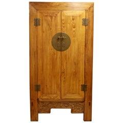 Asian Cabinet Armoire Wardrobe Dresser Shantong Style 1990s Wood