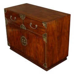 Asian Campaign Chest with Brass Mountings
