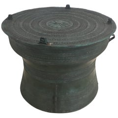 Asian Cast Bronze Rain Drum