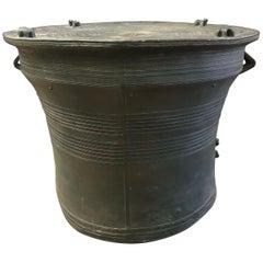 Asian Cast Bronze Rain Drum