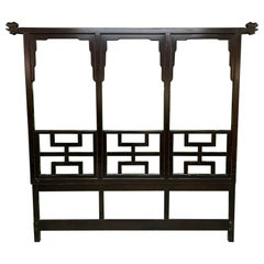 Asian Chinoiserie Carved King Size Headboard