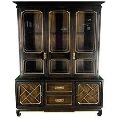 Asian Chinoiserie China Cabinet by American of Martinsville