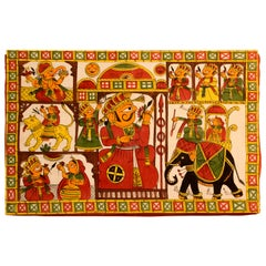 Asian Decorative Art Phad Painting Rajasthan Royal Procession