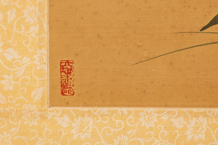 Asian Four-Panel Screen or Autumn Flowers in Bloom For Sale 5