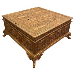 Asian Glass Inlaid Box for Coffee Table