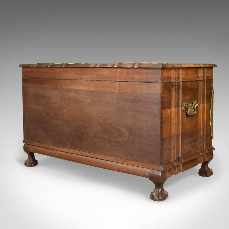Central Asian Asian Hardwood Trunk, Bronzed-Mounted Chest, Coffer, Late 20th Century For Sale