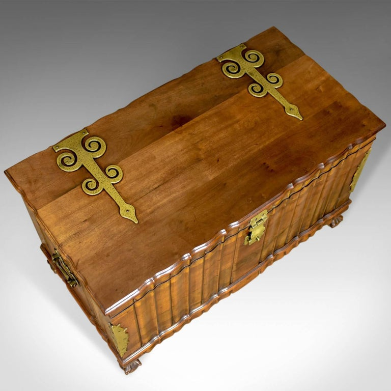 Asian Hardwood Trunk, Bronzed-Mounted Chest, Coffer, Late 20th Century For Sale 1