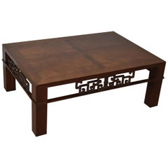 Asian Influence Walnut Coffee Table by Baker Furniture