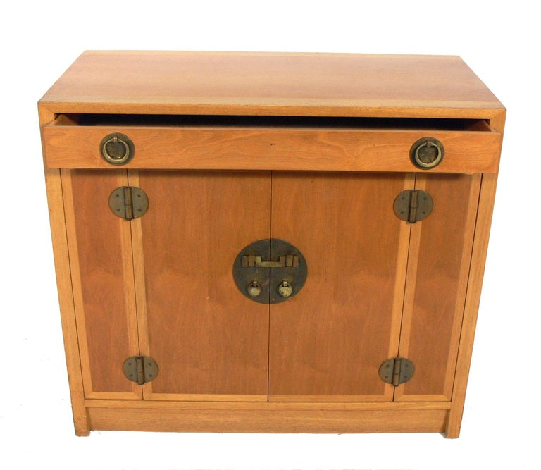 Mid-Century Modern Asian Influenced Credenza or Cabinet by Dunbar For Sale