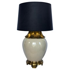 Asian Inspired Brass Pagoda Table Lamp by Chapman