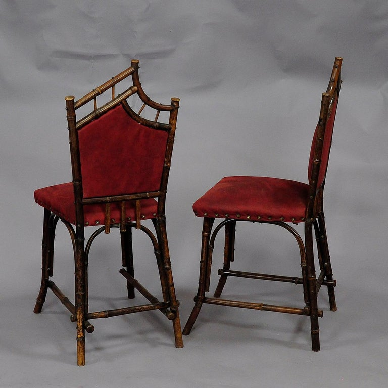 German Asian Inspired Set of Bamboo Furniture, circa 1930s For Sale