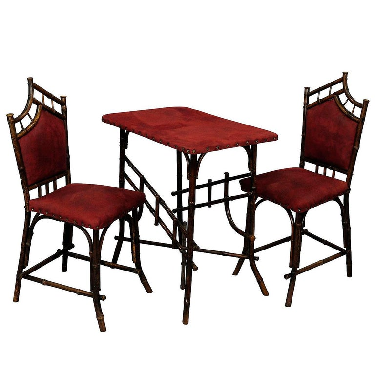 Asian Inspired Set of Bamboo Furniture, circa 1930s For Sale