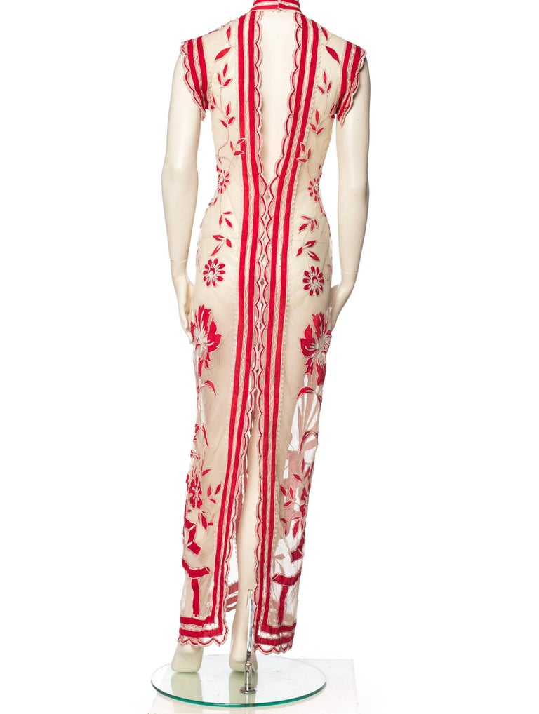 Women's Asian Inspired Victorian Lace Dress For Sale