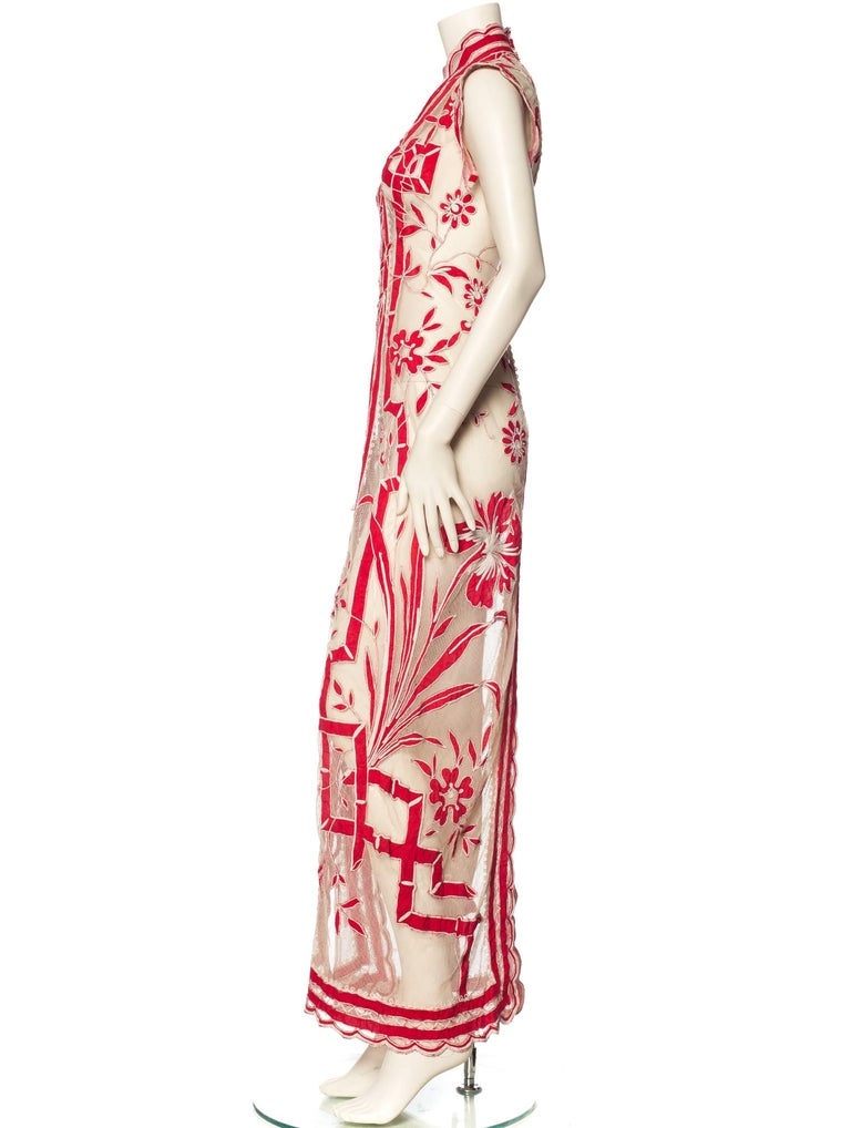 Asian Inspired Victorian Lace Dress For Sale 1