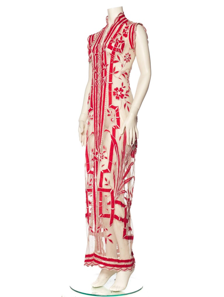 Asian Inspired Victorian Lace Dress For Sale 2