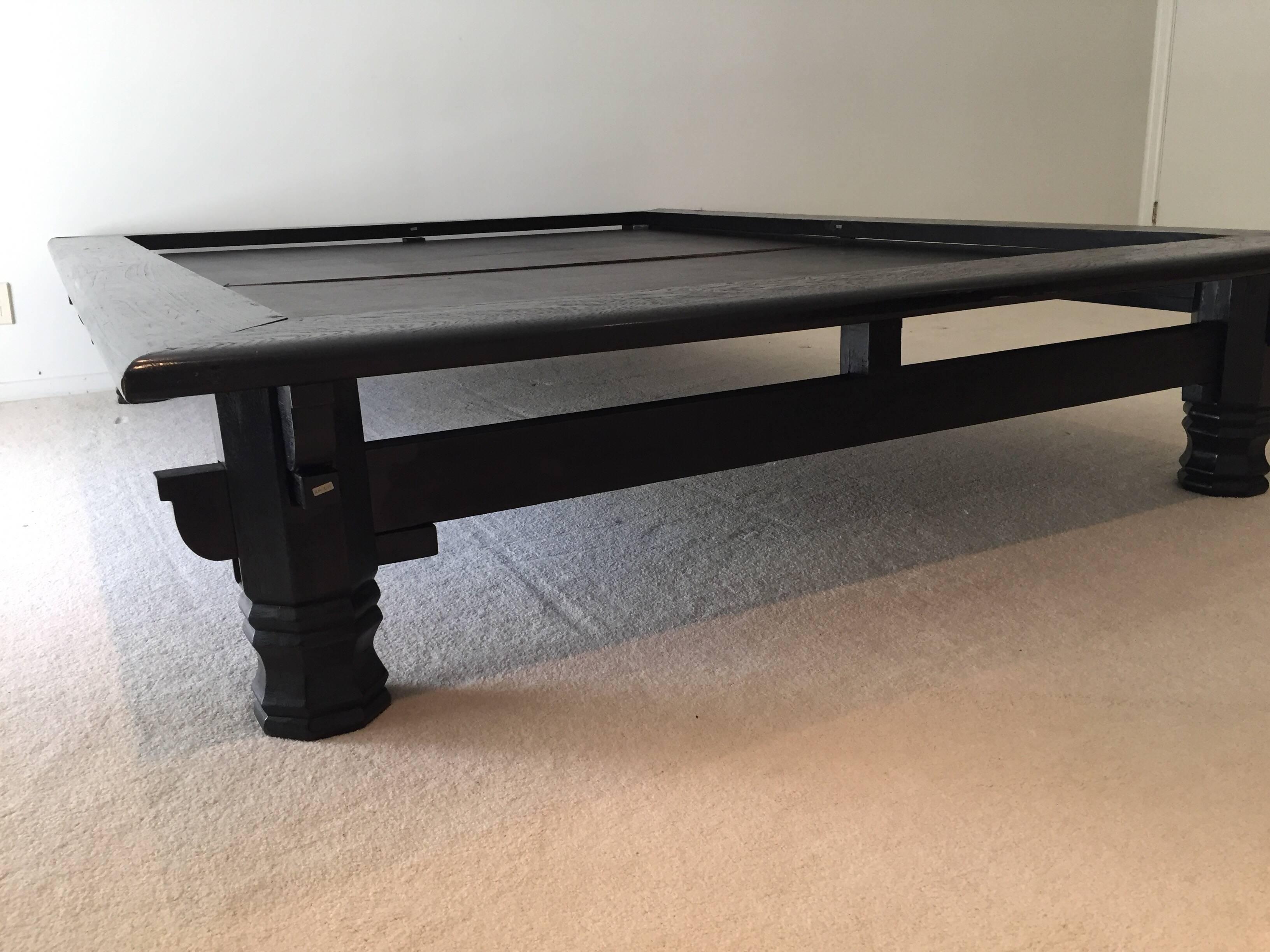 Etonnant Asian Japanese Low Platform Bed In Black Solid Wood. Minimalist Organic  Modern Platform Bed,