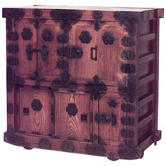 Asian Japanese Style '19th Century' Oak Chest Cabinet
