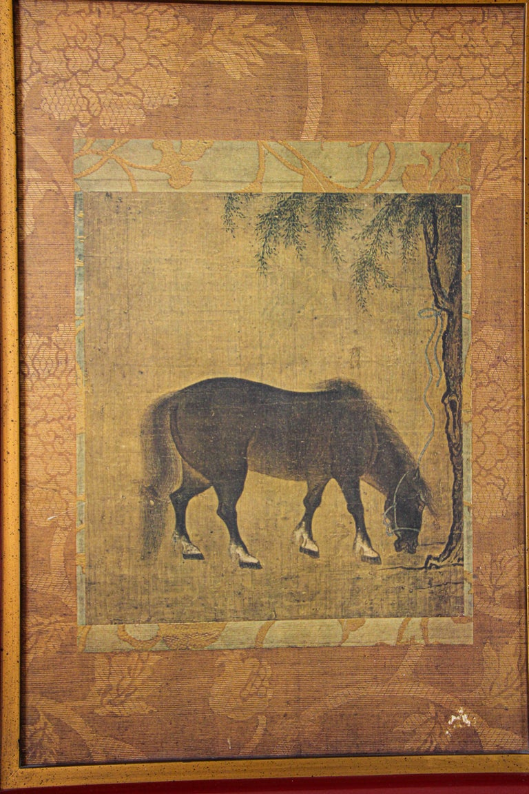 Indian Asian Mughal Style Miniature Print For Sale