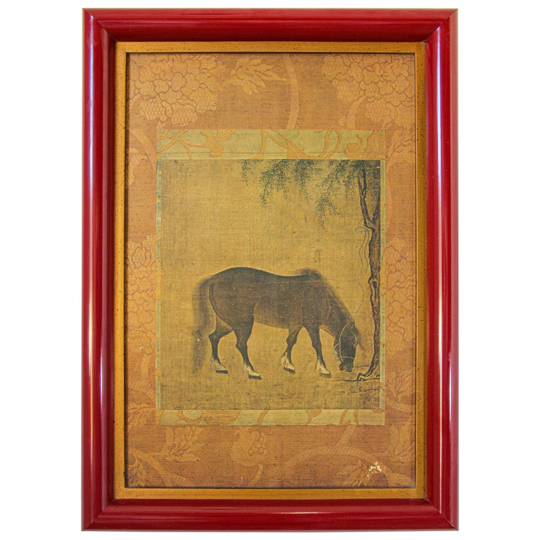 Asian Mughal Style Miniature Print For Sale