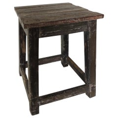 Asian Reclaimed Wood Square Stand