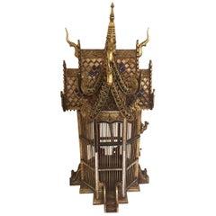 Asian Spirit House Thai Shrine Temple Bird Cage