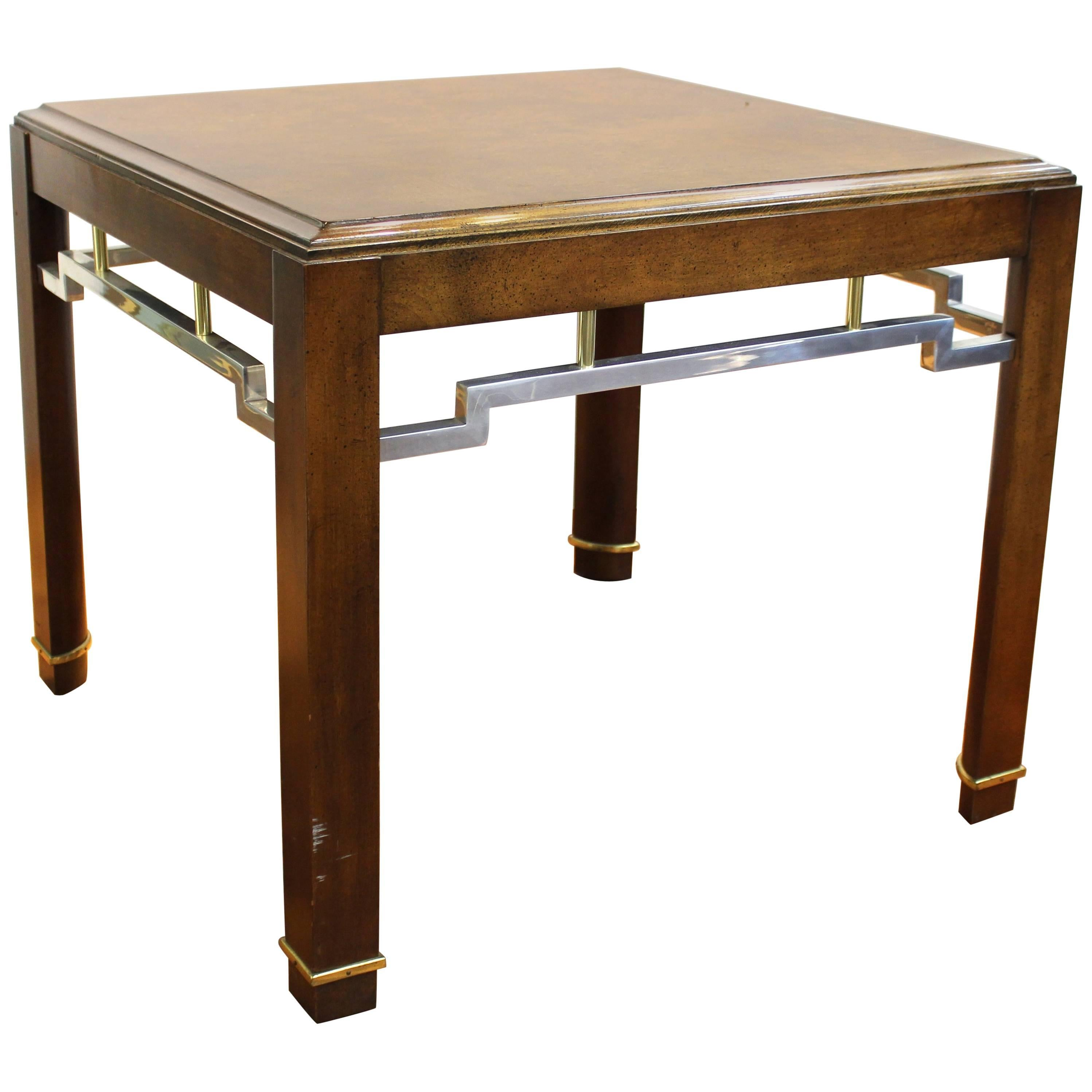 Asian Style Centre or Side Table in Wood and Metal