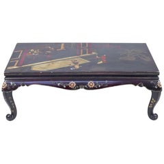 Asian Style Chinoiserie Coffee Table