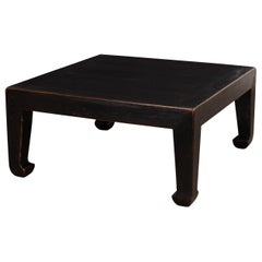 Asian Style Ebonized Coffee Table