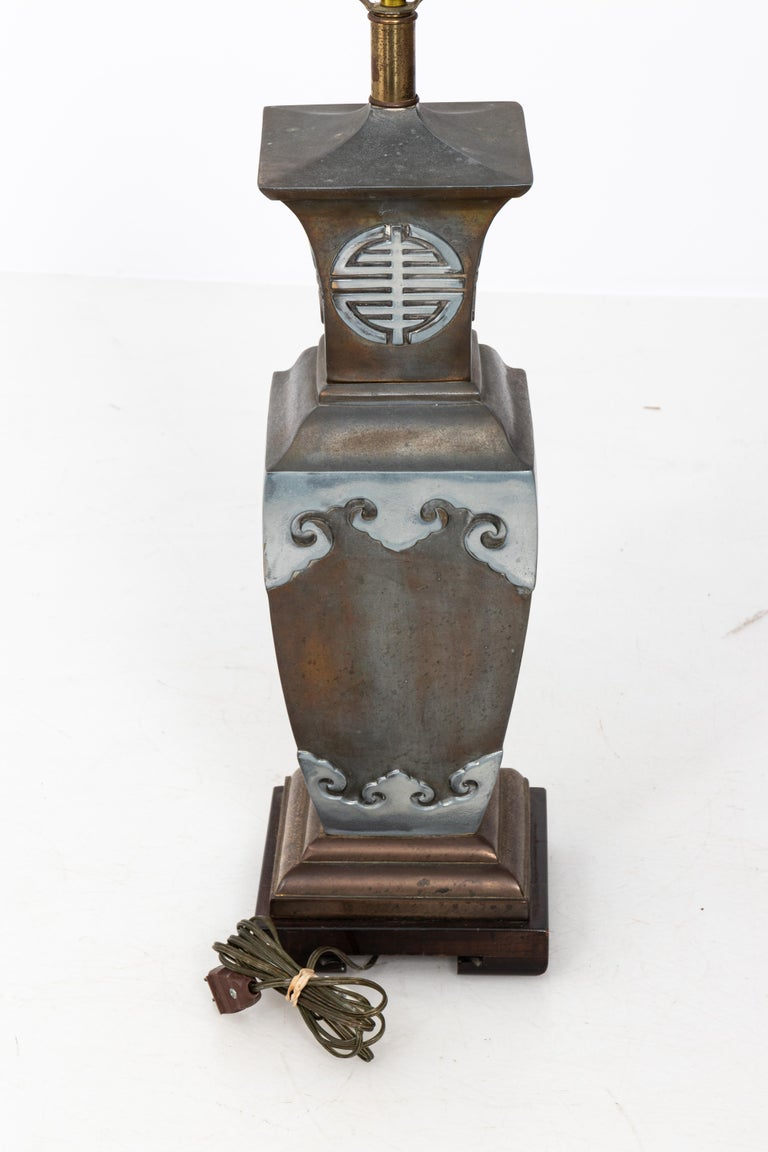 Asian Style James Mont Pair of Lamps For Sale 6